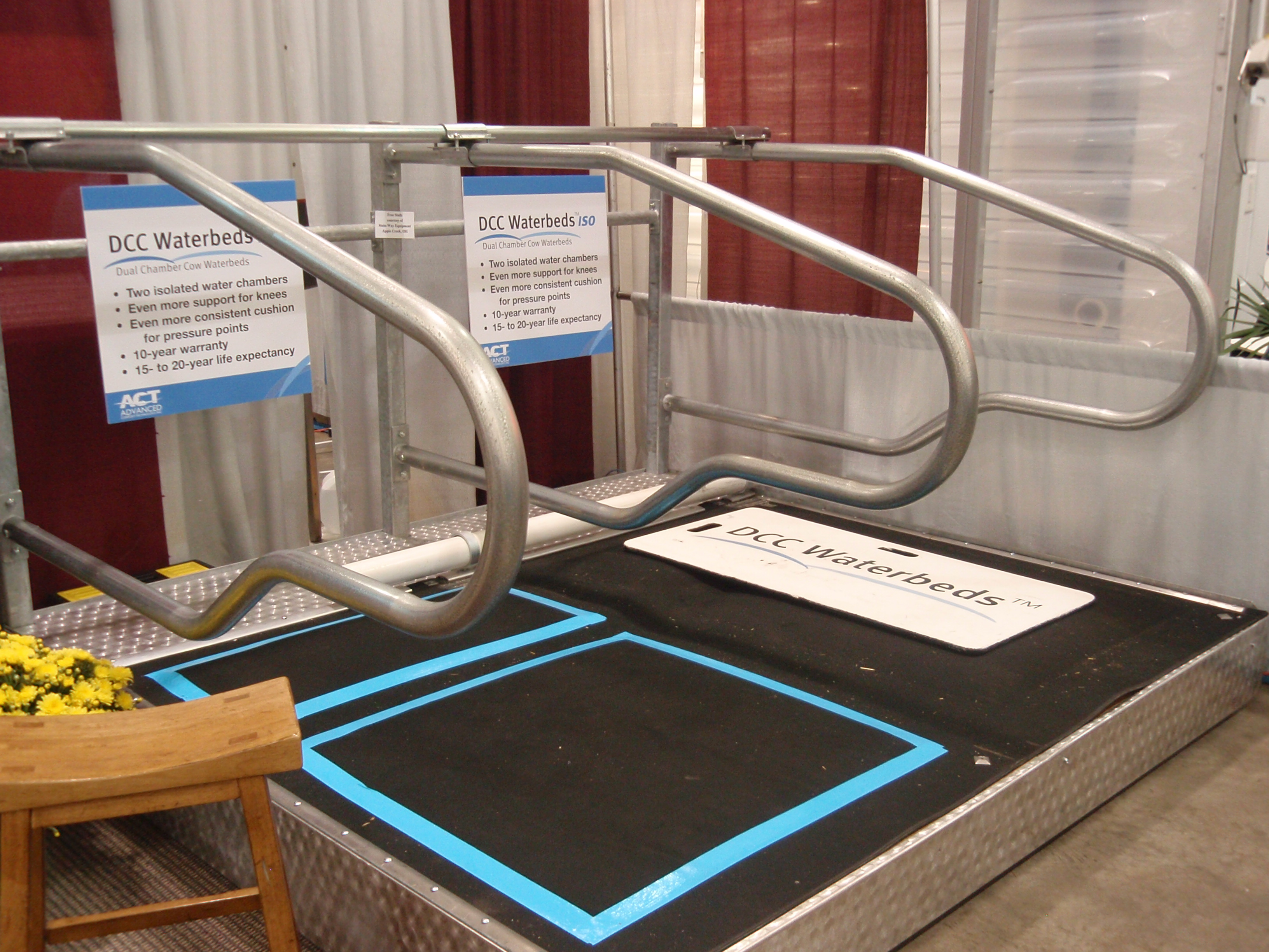 Browsing through the trade show, you can find everything including waterbeds for cows!