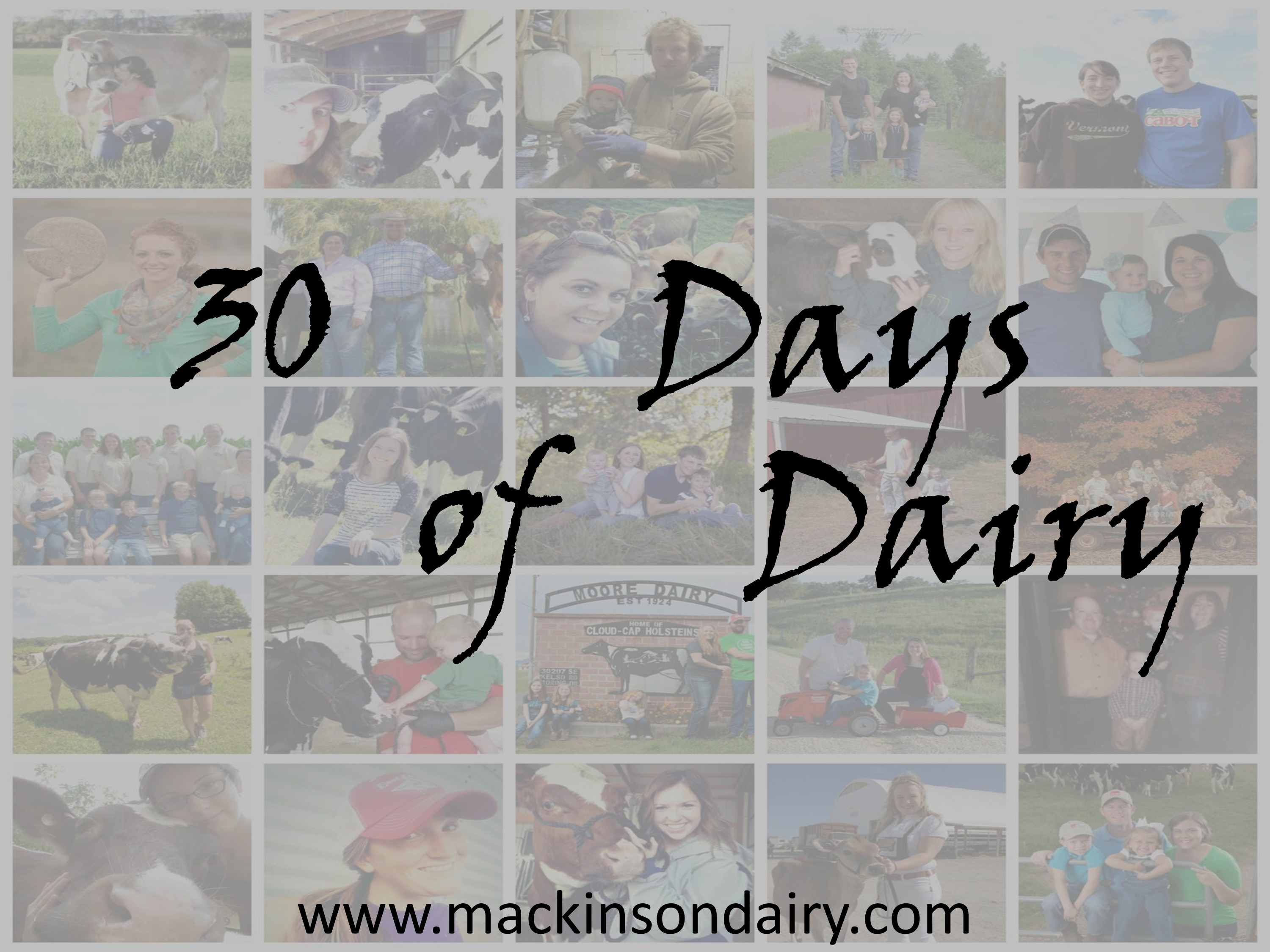 30 Days of Dairy Preview