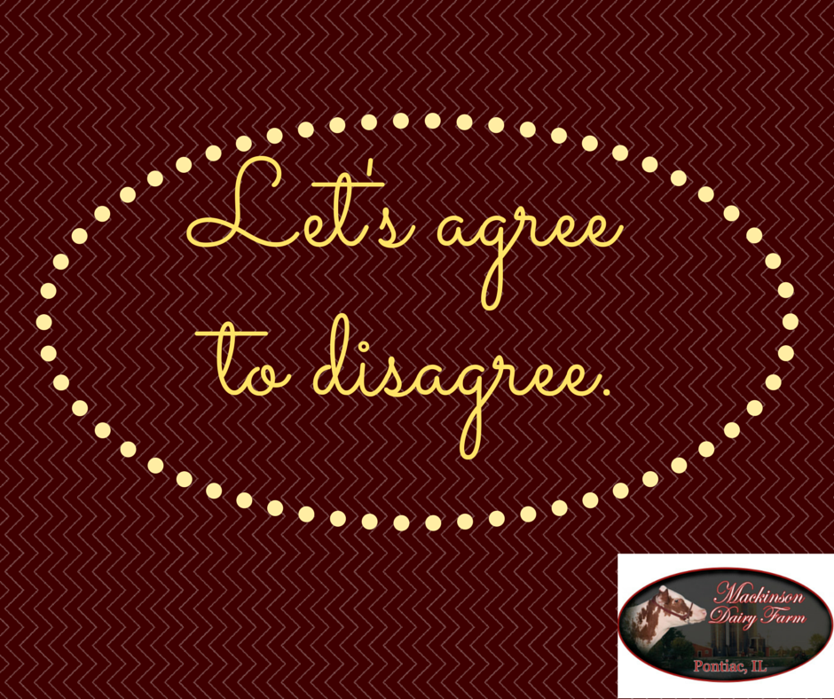 Let's agree to disagree (2)