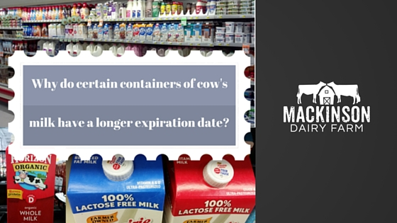 Why do certain containers of cow's milk have a longer expiration date?