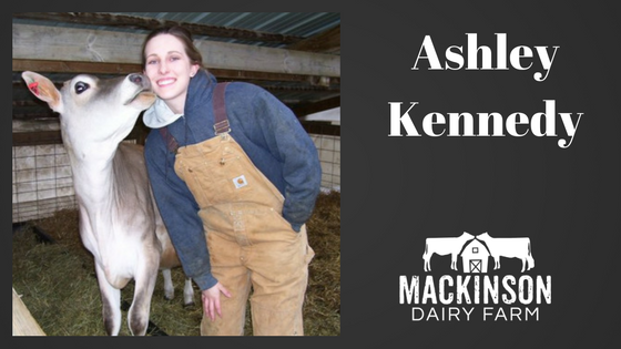 Women in Dairy: Ashley Kennedy from Bad Axe, Michigan.