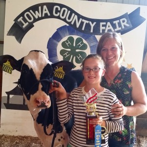 Laura and Julia with Heart one of the few Holsteins at Heartwood Farm