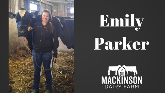 Women in Dairy: Emily Parker from Janesville, Wisconsin.