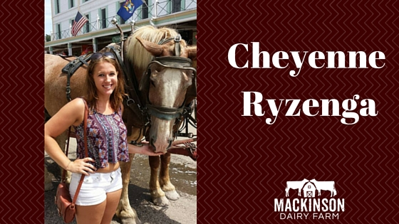 Women in Dairy: Cheyenne Ryzenga from Richland, Michigan