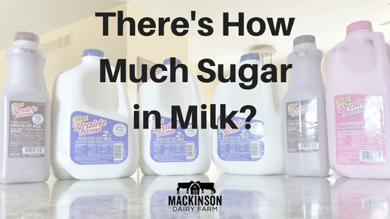 There is how much sugar in flavored milk?